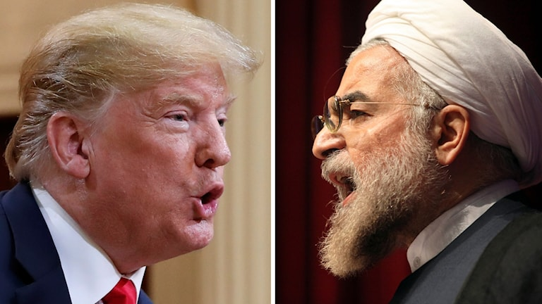 Donald Trump pch Hassan Rohani (montage).