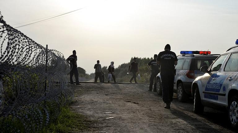 Gränsövergång i Ungern, år 2015.