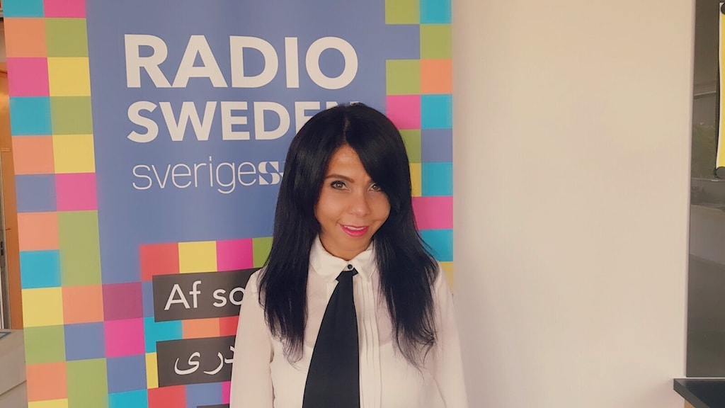 Radio Swedens programledare Samar Hardous.