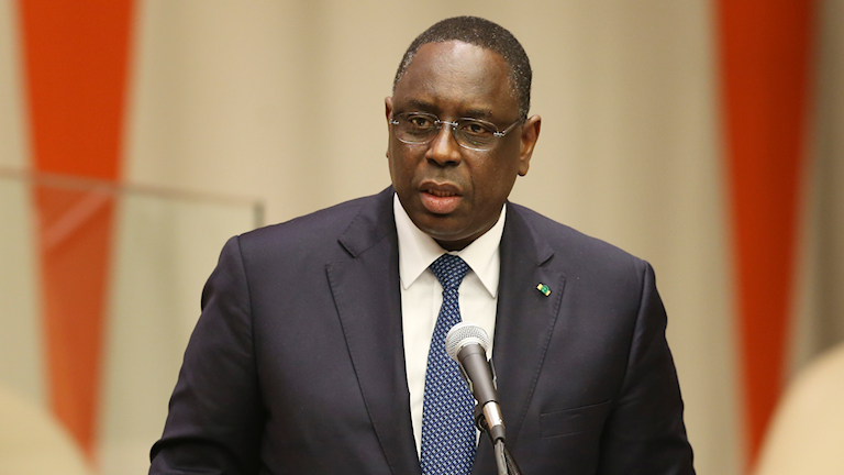 Senegals president Macky Sall