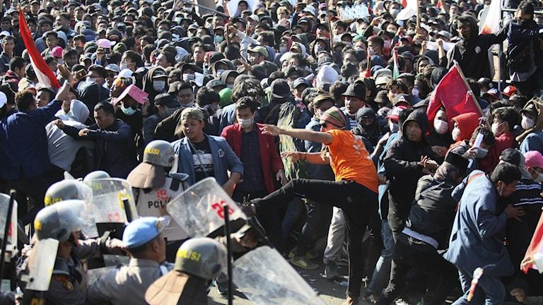 Demonstrationer för ändringar i grundlagen
