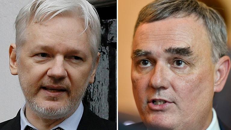 Julian Assange och Per E Samuelsson