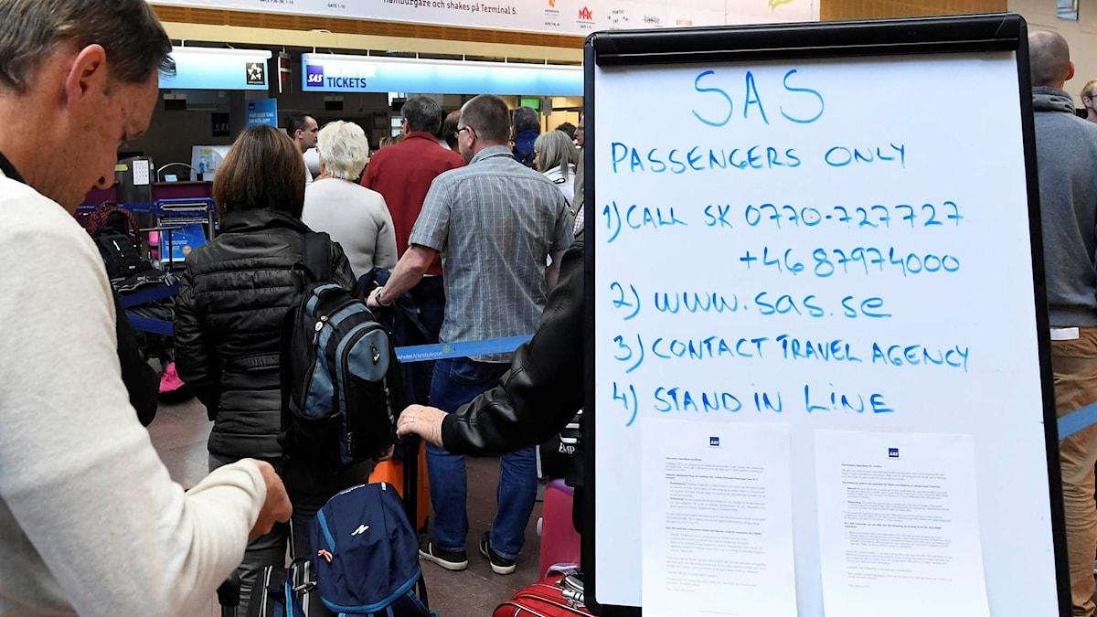 Tiotusentals SAS-resenärer drabbas av den pågående pilotstrejken.
