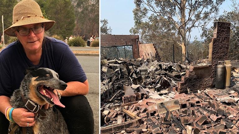 Railie Douglas förlorade sitt hem i lågorna utanför staden Taree i delstaten New South Wales.