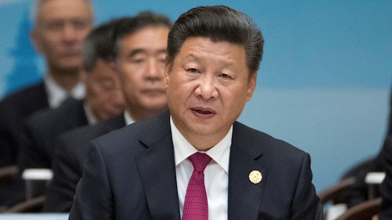 Kinas president Xi Jinping. Foto: Mark Schiefelbein/TT.