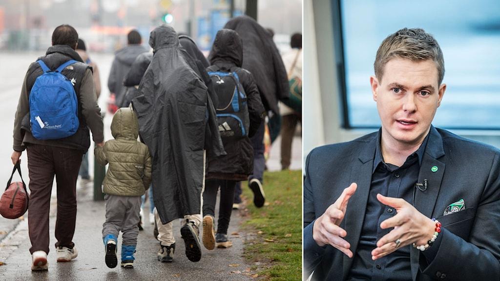 Flyktingar i Malmö och Miljöpartiets Gustav Fridolin