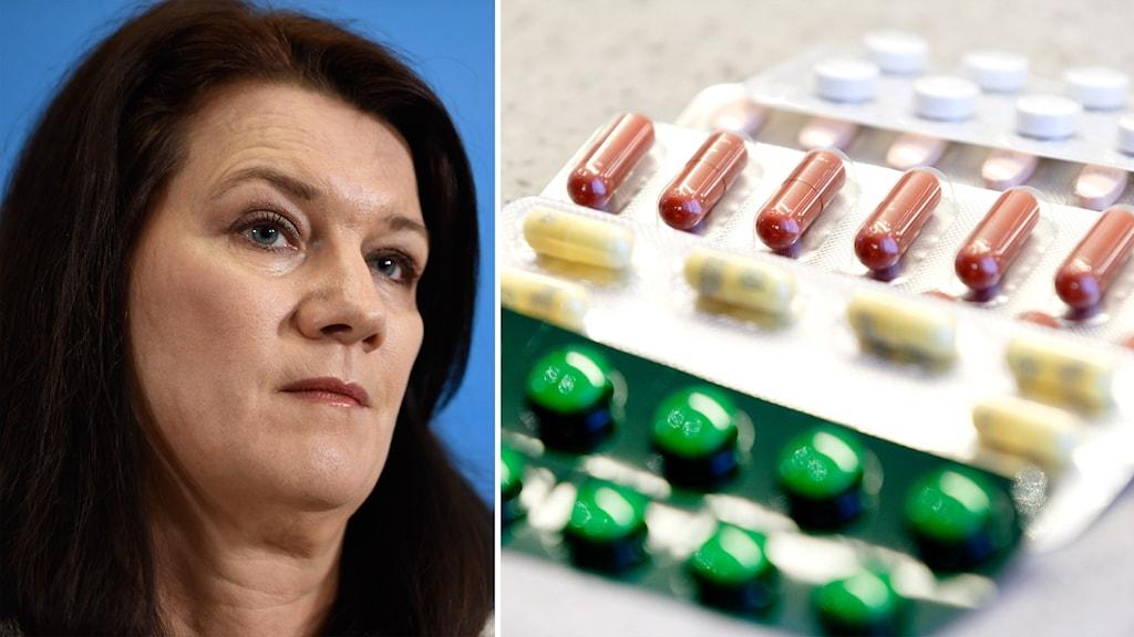 Delad bild: minister och läkemedel.