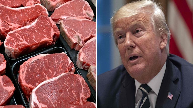 Biff kött Donald Trump