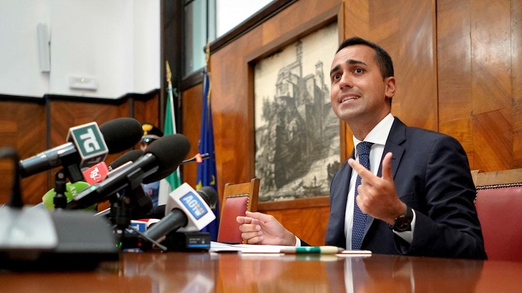 Italienska ministern för ekonomisk utveckling och vice premiärministern Luigi Di Maio.
