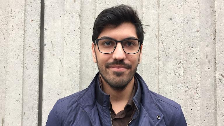 Adam Reuben : klimatflyktingar saknar skydd. Foto: Sveriges Radio.