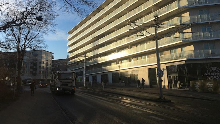 Nybyggda bostäder i Liljeholmen, södra Stockholm.