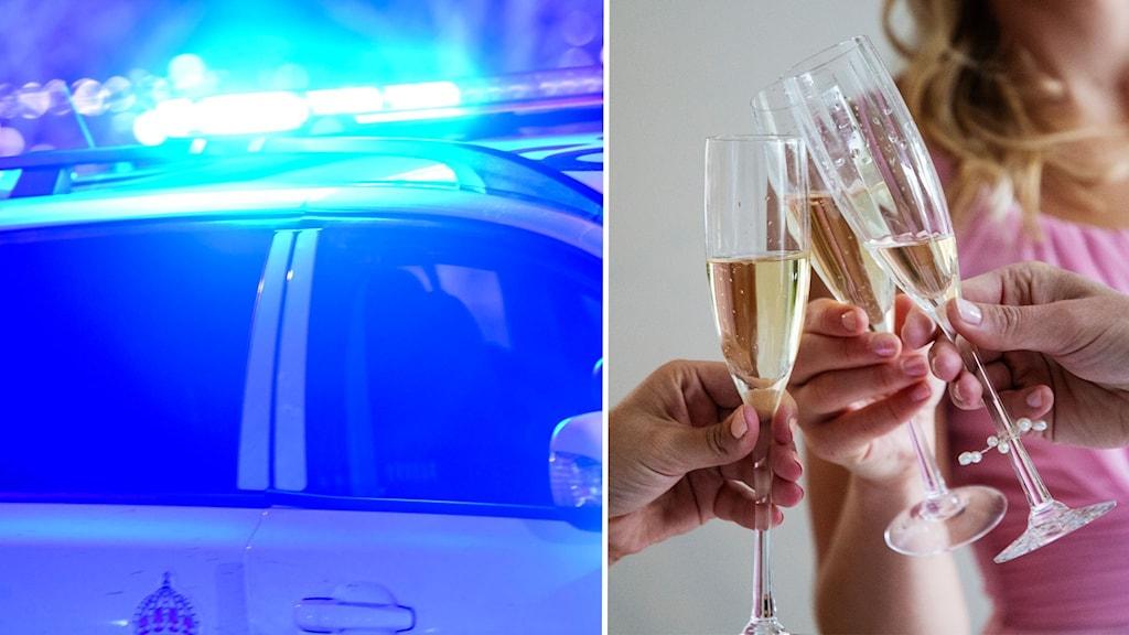 fest, södertälje, polis