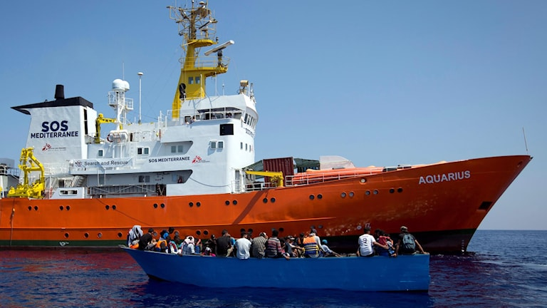 Läkare utan gränsers skepp på Medelhavet