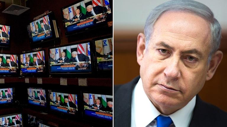 TV-apparater och Benjamin Netanyahu, Israels premiärminister