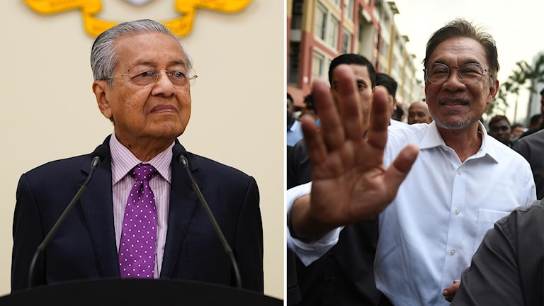 Mahathir Mohamad och Anwar Ibrahim.