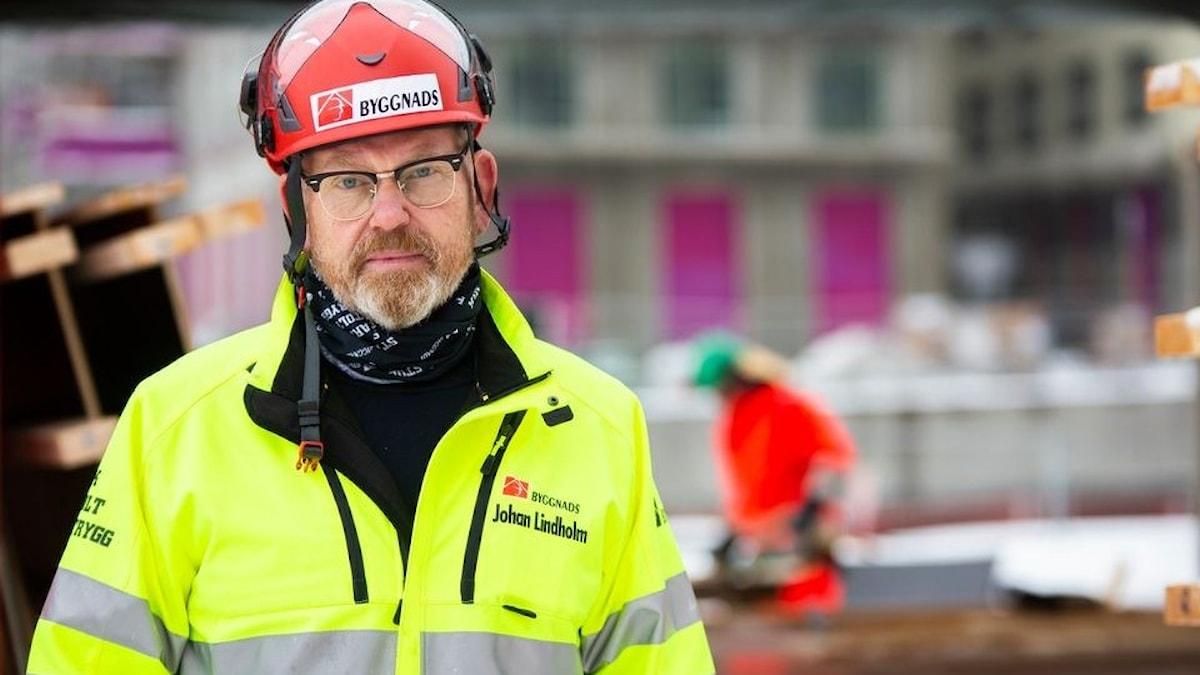Johan Lindholm, ordförande i Byggnads och styrelseledamot i det internationella byggnadsfacket, BWI.