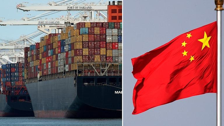 Kinas handelsöverskott till USA nådde ett månadsrekord i juni.