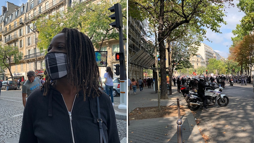 Gula västarna demonstrant i Paris
