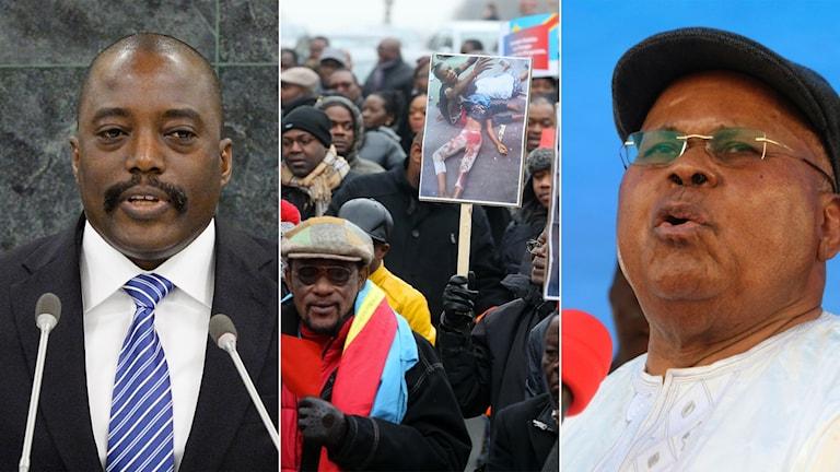 President Joseph Kabila och ledaren för det största oppositionspartiet i Kongo-Kinshasa, Etienne Tshisekedi.