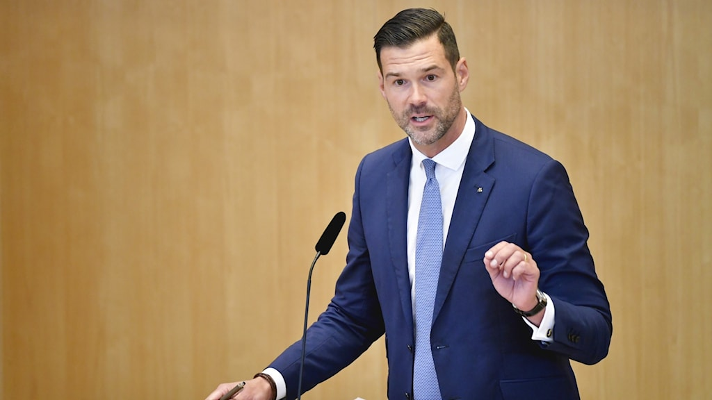 Johan Forssell, rättspolitisk talesperson för Moderaterna.