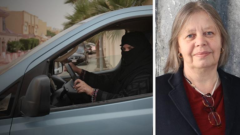 Saudisk kvina kör bill Bitte Hammargren