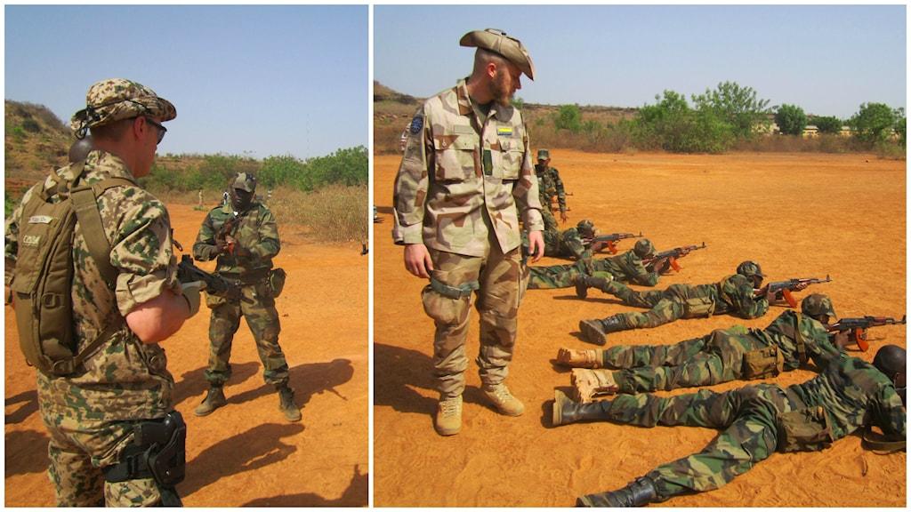 Svenska soldater i Mali tränar landets egna trupper