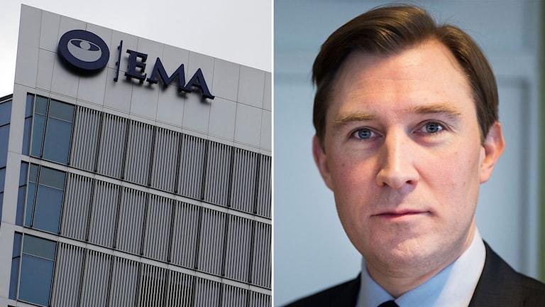 Henrik Fritzon (S) regionråd i Skåne. Exteriör på EMA i London.