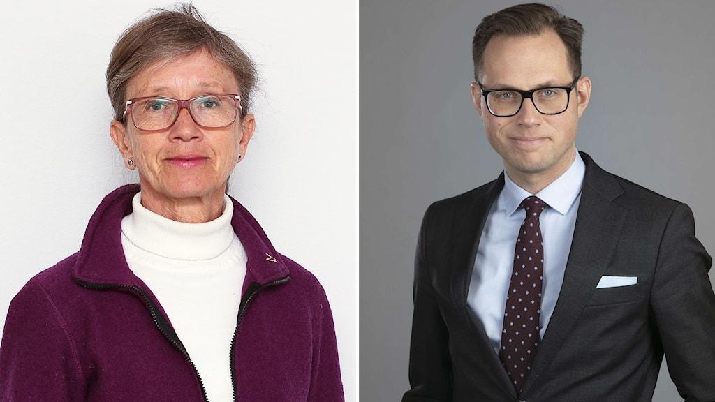 Kristina Glise, överläkare vid Institutet för Stressmedicin och Försäkringskassans rättschef Mikael Westberg.