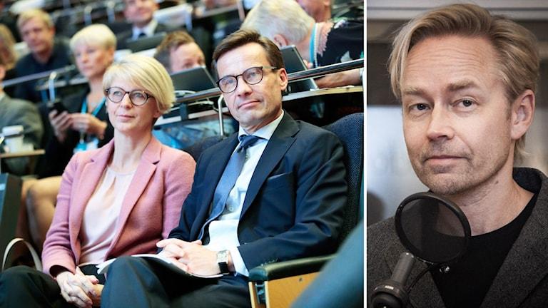 Elisabet Svantesson, ekonomiskpolitisk talesperson och partiledare Ulf Kristersson under Moderaternas arbetsstämma i Örebro.