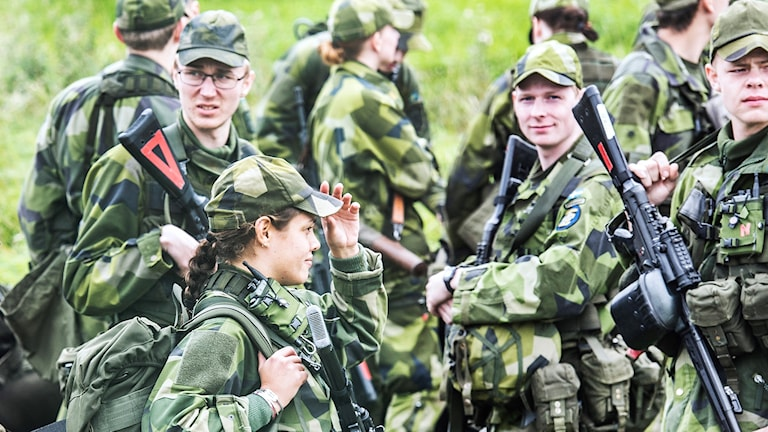 Soldater, försvaret, mönstring