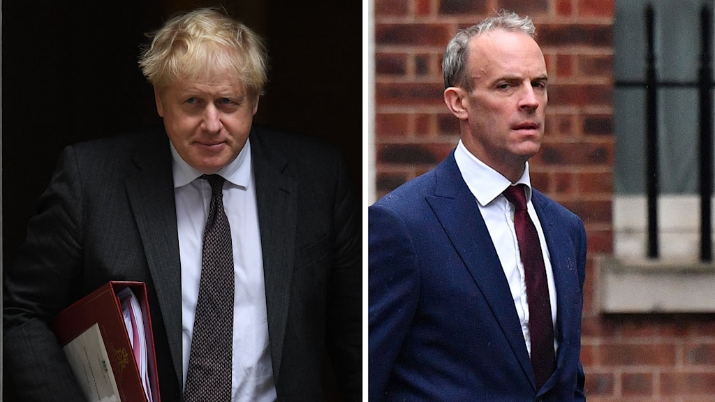 Boris Johnson och Dominic Raab