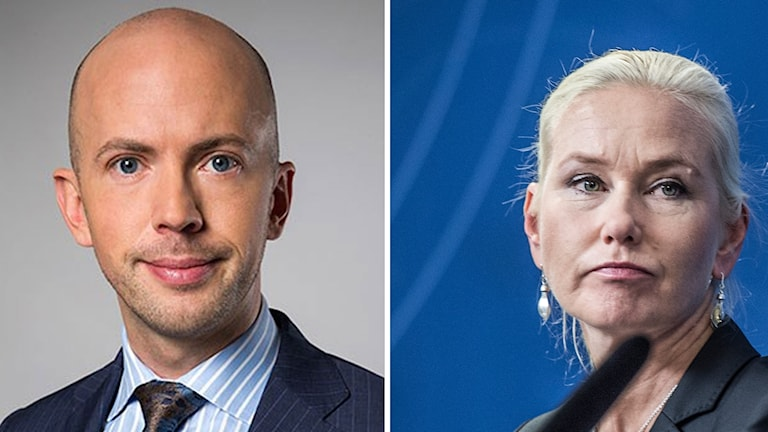 Statssekreteraren Erik Bromander och infrastrukturminister Anna Johansson (S)