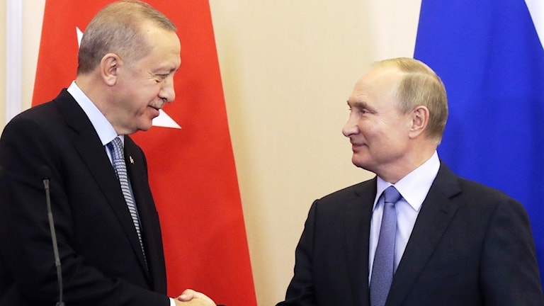 Recep Tayyip Erdogan och Vladimir Putin