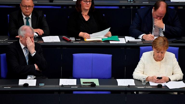 Tysklands regering i möte om migrationsuppgörelsen