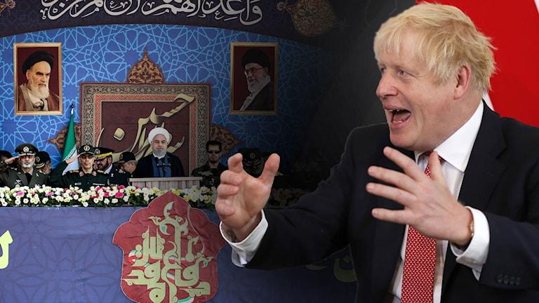 Storbritannien pekar ut Iran för oljeattack