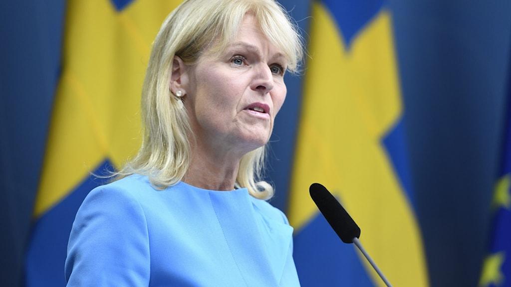 Anna Hallberg (S), utrikeshandelsminister.