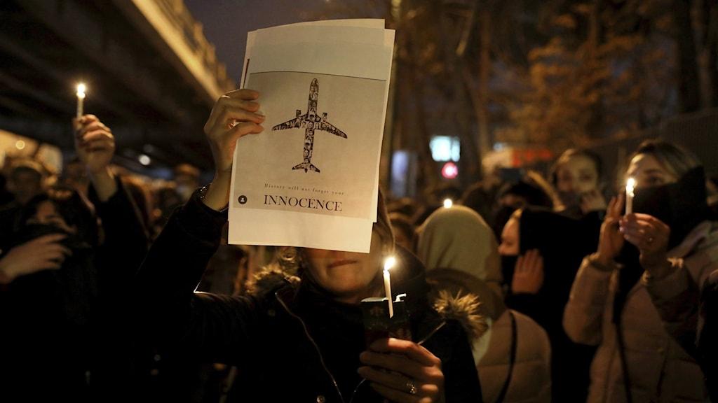 Regimkritisk demonstration i Irans huvudstad Teheran.