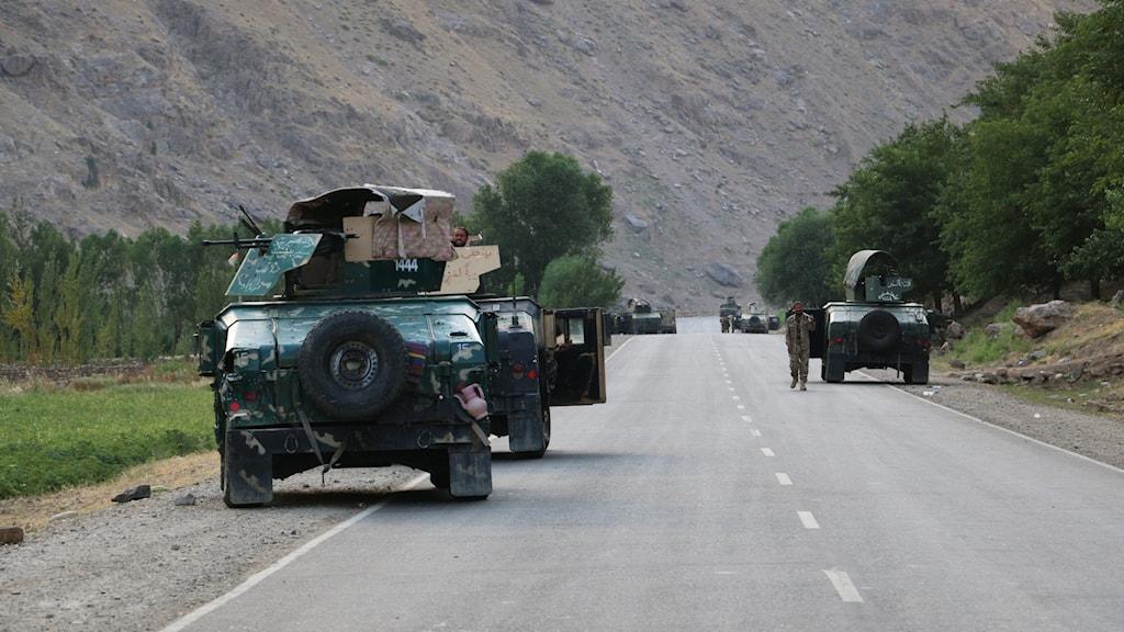 Afghanska regeringssoldater.