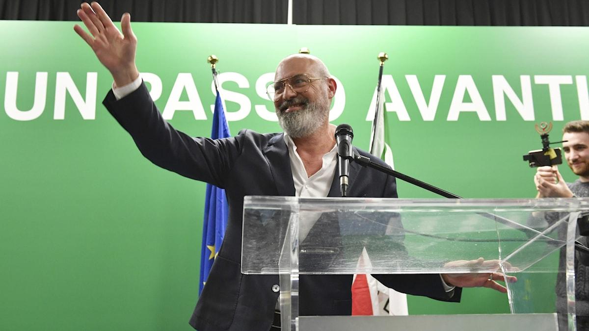 vänsterkandidaten Stefano Bonaccini