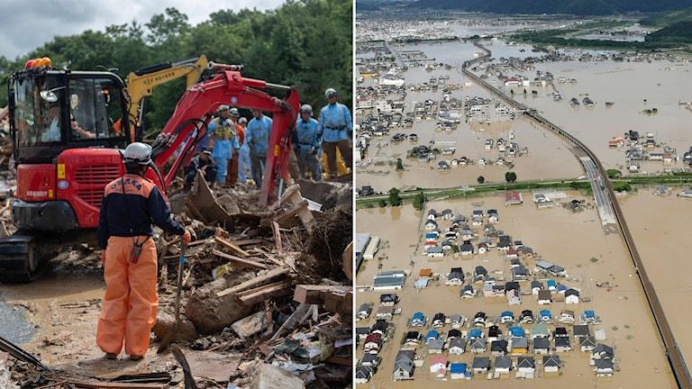 Japan översvämning