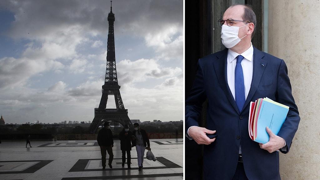 Frankrikes premiärminister premiärminister Jean Castex.