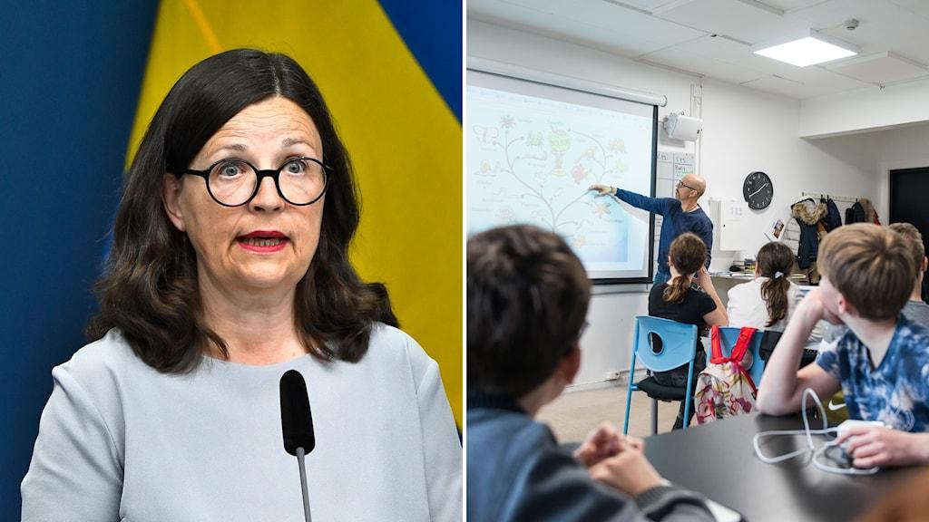 Utbildningsministern Anna Ekström (S)