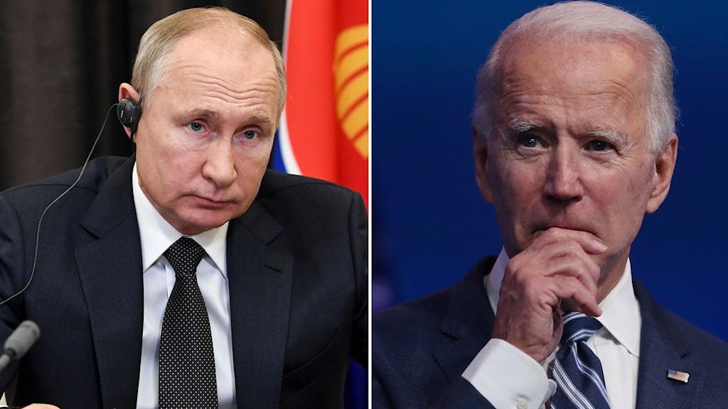 Valdimir Putin och Joe biden