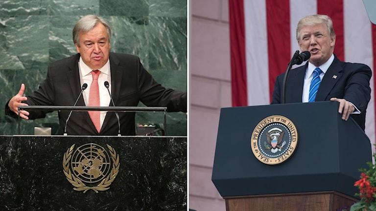 FNs generalsekreterare António Guterres sätter press på Trump i klimatfrågan