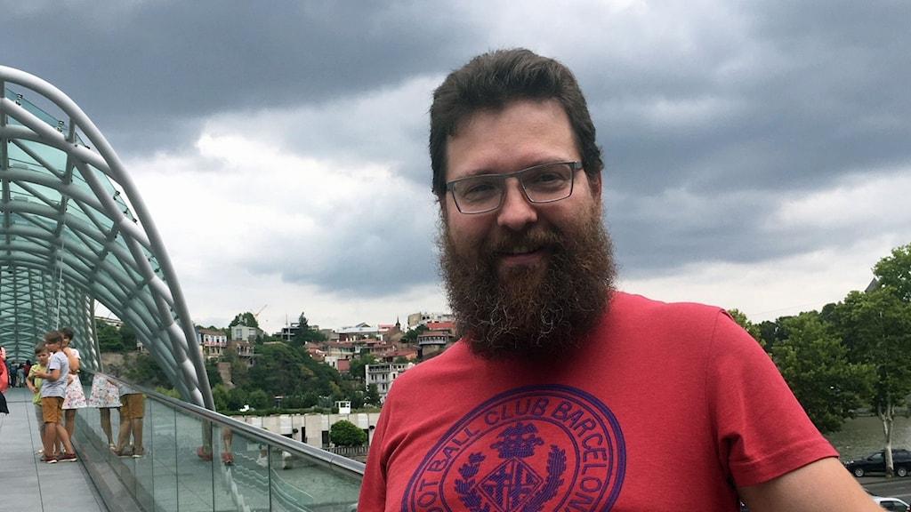 Andrej Vanjurin från Ryssland semestrar gärna i Georgien.