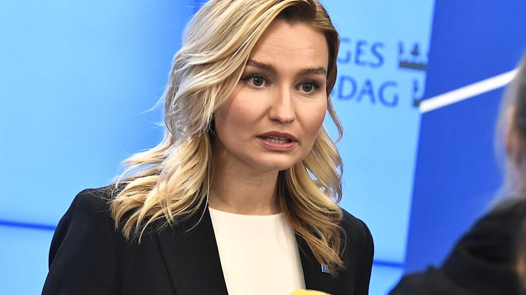 Kristdemokraternas partiledare Ebba Busch
