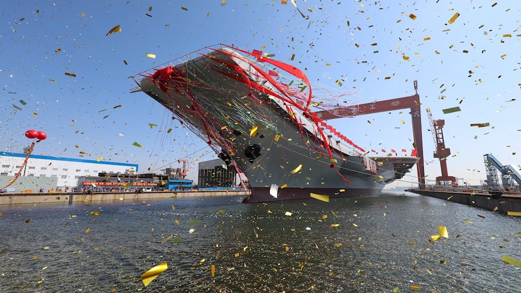 Fartyg, Kina, firande, militär