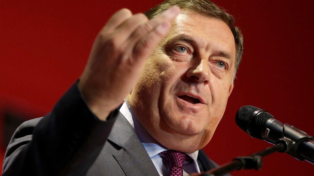 Milorad Dodik är president för den Bosnienserbiska republiken.