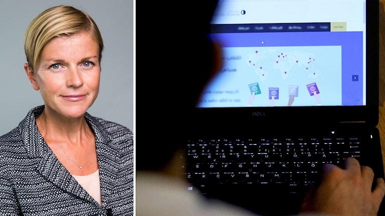 Sofia Karlberg som är presschef på UD