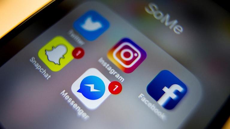 Sociala medier i telefonen